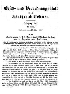 Gesetz-und Verordnungsblatt für das Königreich Böhmen